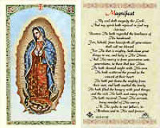 Our Lady of Guadalupe Nuestra Señora de Guadalupe Prayer Card Laminated