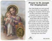 St. Joseph Employment Prayer Laminated Card