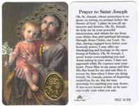 St. Joseph Prayer Laminated Card