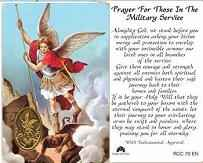 St Michael Prayer for Military Prayer Card