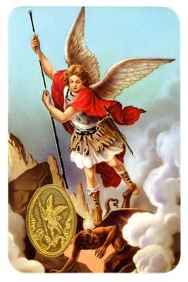 St Michael Archangel Prayer Card