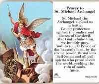 St. Michael Archangel Prayer Card