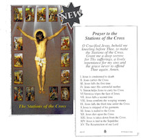 Holy Stations of The Cross Prayer Cards (100)