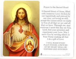 Sacred Heart of Jesus Prayer Card & Medal