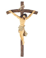 Resin Wall Crucifix Cross 6 Inch