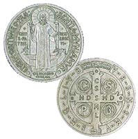 St. Benedict Medal Coin Silver