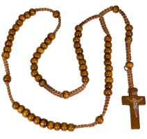 Solid Wood Beads Rosary Light Wood