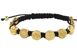 Saint Benedict Medal Gold Bracelet