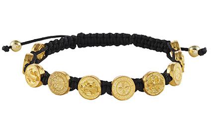 Saint Benedict Medals Gold Bracelet