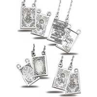 Sterling Silver Scapular Necklace