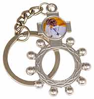 Pope Francis Silver Rosary Finger Ring Key Chain