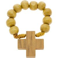 One Decade Wooden Rosary Ring