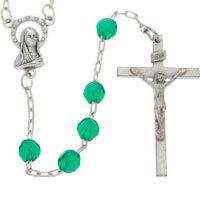 Green Beaded Rosary