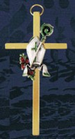 Confirmation Wall Cross with Bishop Hat