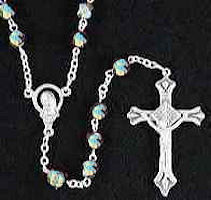 Pearlescent Clear Crystal Rosary