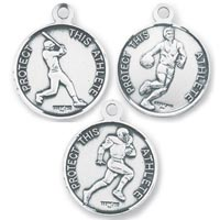 St. Christopher Men's Sterling Sports Necklaces - 11 Sports