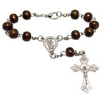 Wood Beaded Auto Rosary
