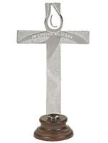 In Loving Memory Silver Standing Cross