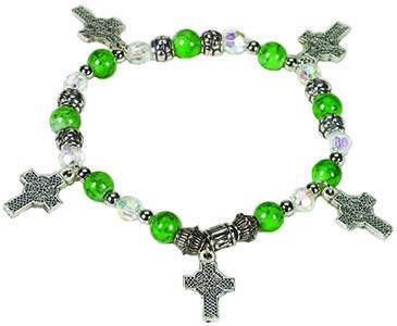 Celtic Cross Irish Charm Bracelet