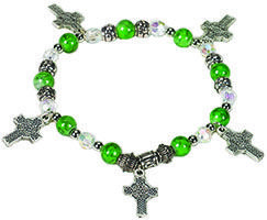 Celtic Cross Irish Charm Bracelet
