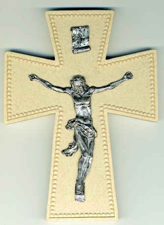 6 Inch Resin Jesus Wall Crucifix