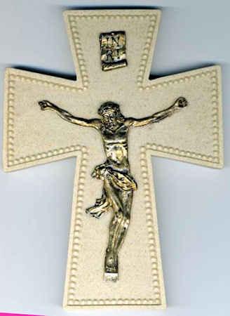 6 Inch Gold Wall Crucifix