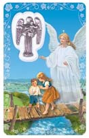 Prayer to Our Guardian Angel Wallet Card