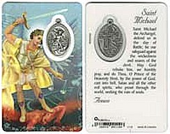 St. Michaels Prayer Card Laminated Medal