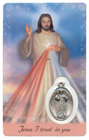 Devine Mercy Prayer Card and Medal