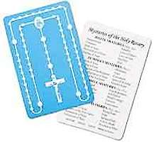 Mysteries of the Rosary Embossed Plastic Card