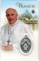 Pope Francis Prayer Holy Card Medal