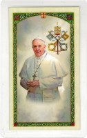 Pope Francis Prayer Holy Card