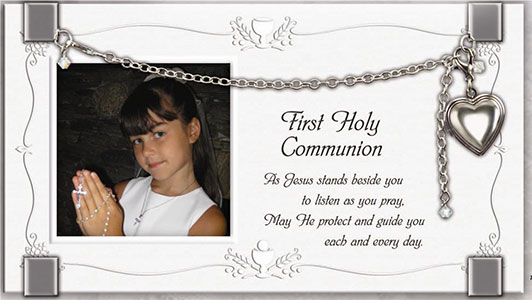 First Holy Communion Frame with Bracelet