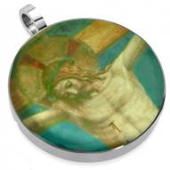 Jesus on Cross Picture Stainless Steel Pendant