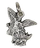 Saint Michael Bracelet Medal Charm Pewter