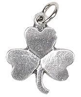 Shamrock Bracelet Charm Silver