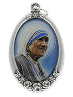 Saint Teresa Metal & Epoxy Medal