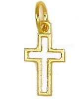 Gold Outline Cross Charm