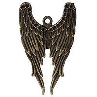 Antique Bronze Angel Wings Charm