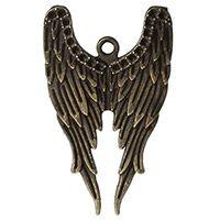 Antique Bronze Angel Wings Charm