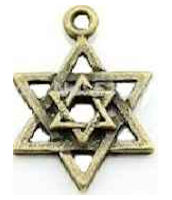 Star of David Antique Bronze Charm