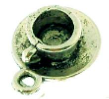 Tea Cup Charm Bronze Pendant