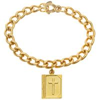 Gold Bible Bracelet or Pendant Necklace