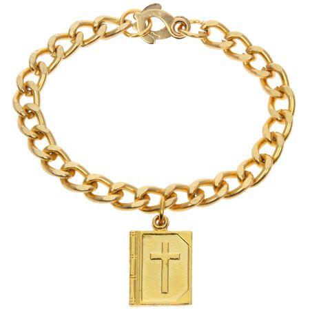 Gold Bible Bracelet or Pendant Necklace