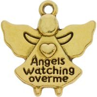 12 Angels Watching Over Me Gold Charms