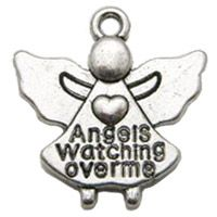 Angels Watching Over Me Silver Charms (Pkg of 12)