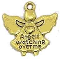 Angels Watching Over Me Gold Charms (Pkg of 12)
