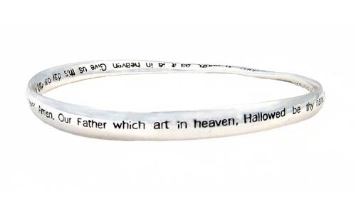 Lords Prayer Bracelet Silver Mobius Twisted
