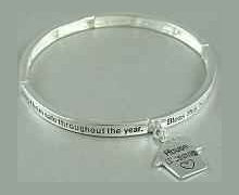 House Blessing Bracelet With House Charm