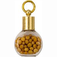 Gold Round Mustard Seed Charm